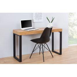 Písací stôl DELA 120 cm - čierna, prírodná