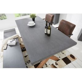 Jedálenský stôl CEMENTY 180 cm - sivá