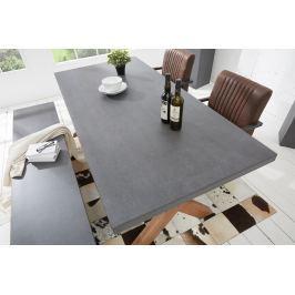 Jedálenský stôl CEMENTY 220 cm - sivá
