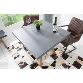 Jedálenský stôl CEMENTY 90 cm - sivá