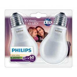 PHILIPS izzó LED E27; 7W = 60W; 2 db