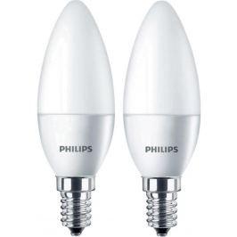PHILIPS izzó LED E14; 4W = 25W; 250lm; 2700K 2 db
