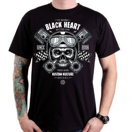 BLACKHEART Piston Skull M - fekete