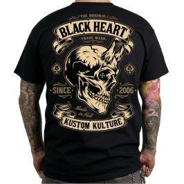 BLACKHEART Devil Skull M - fekete