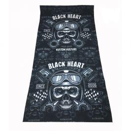 BLACKHEART Piston Skull fekete
