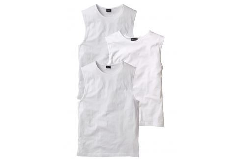Ujjatlan póló (3 db-os csomag) Regular Fit bonprix Pólók