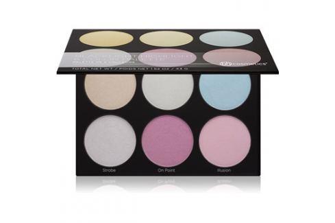 BHcosmetics Blacklight Highlight bőrvilágosító paletta  43 g Arckontúr