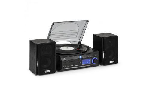 Sztereó berendezés Auna DS-2, lemezjátszó, MP3 rögzítés HiFi rendszerek lemezjátszóval