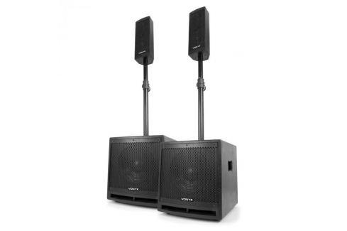 """Vonyx VX1000BT 2.2-es aktív hangfal készlet, 1000 W, 10""""-es mélynyomó, BT, USB, SD, MIC, AUX Aktív mélynyomók"""