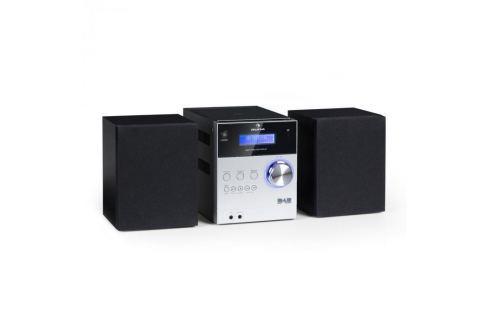 Auna MC-20 DAB micro sztereó rendszer, DAB+, bluetooth, távirányító, ezüst Bluetooth HiFi rendszerek
